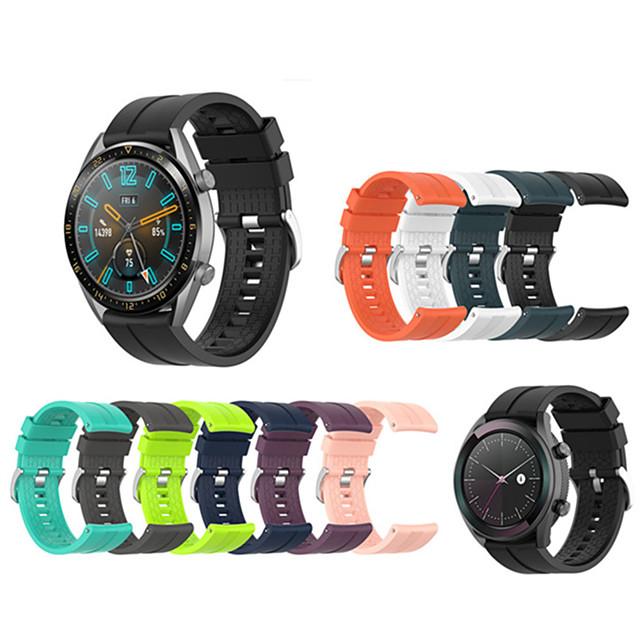 Silikon spor yedek watch band bilek kayışı huawei için izle gt 42mm / 46mm