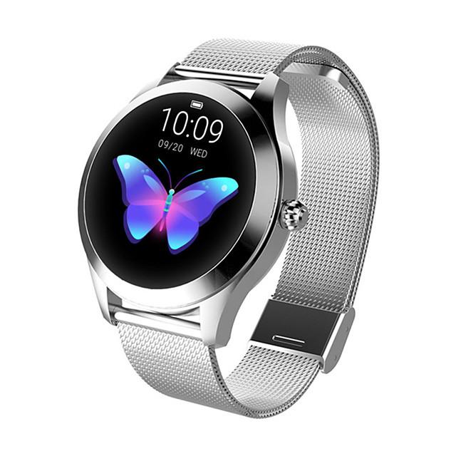 Reloj elegante Digital Estilo moderno Deportivo Cuero Auténtico 30 m Resistente al Agua Monitor de Pulso Cardiaco Bluetooth Digital Casual Al Aire Libre - Negro Blanco Dorado