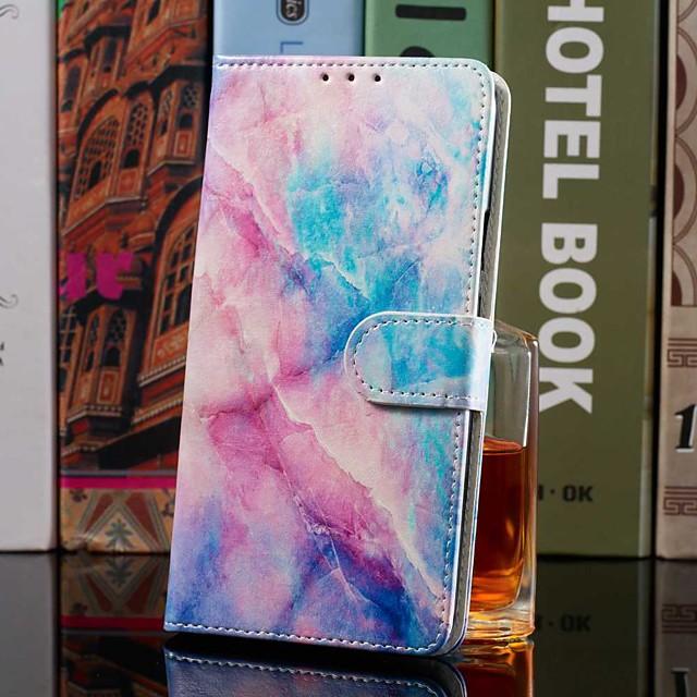 กรณีสำหรับ apple iphone xr / iphone xs max กระเป๋าสตางค์ / ผู้ถือบัตร / พร้อมขาตั้งเต็มร่างกายกรณีสีชมพูสีฟ้าหินอ่อนหนัง pu สำหรับ iphone 6 วินาที / 6 วินาทีบวก / 7/7 บวก / 8/8 บวก / x / xs