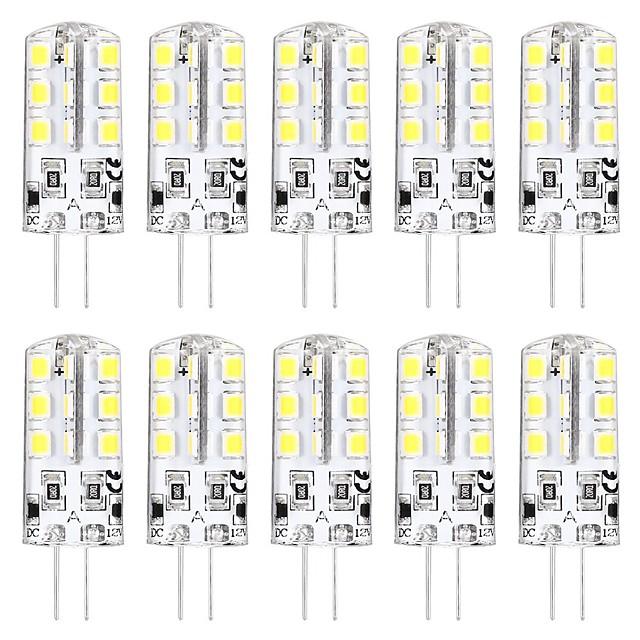 10pcs mini ampoule led g4 3w 24 perles led smd 2835 équivalent à l'ampoule halogène g4 30w blanc chaud 3000k lumière du jour blanc 6000k base g4 dc12v ac220v