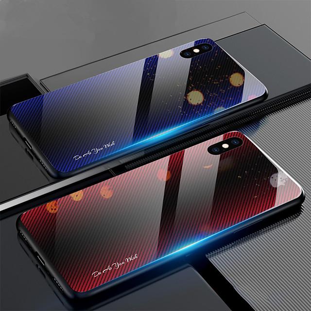 κλιμακωτή υφή ινών άνθρακα υαλοπίνακα θήκη για το iphone xs max xr xs x θήκη κάλυψης για το iphone 8 plus 8 7 plus 7 6 plus 6 κάλυψη προστατευτική fundas σιλικόνη tpu άκρη
