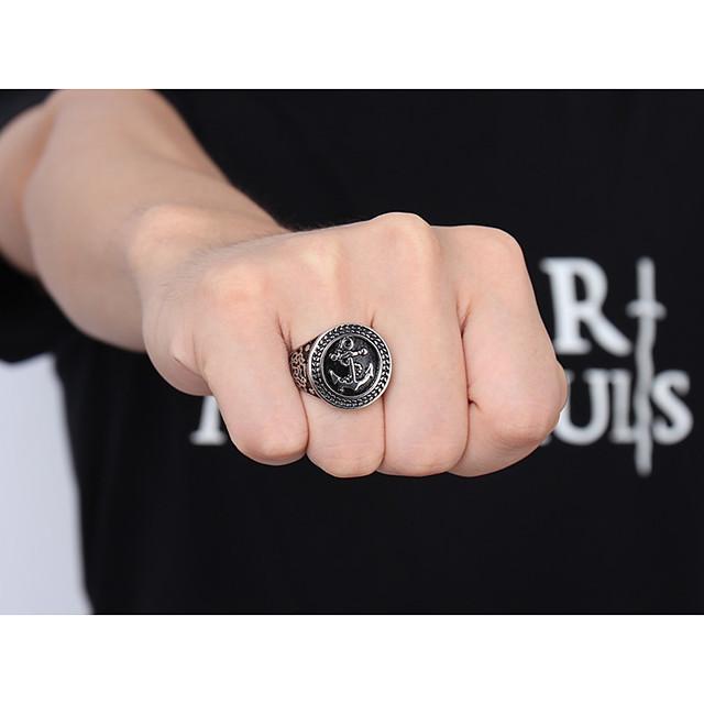 Bandring Klassisch Silber Wolframstahl Anker Einfach Klassisch Modisch 1pc 8 9 1 11 12 / Herrn / Ring