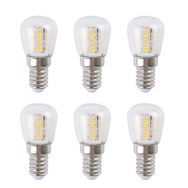 6pcs 3 W נורות גלוב לד 300 lm E14 26 LED חרוזים SMD 2835 לבן חם לבן 220-240 V