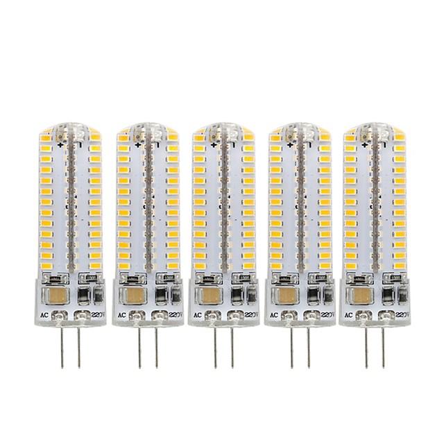 5pcs 3 W LED 콘 조명 270 lm G4 104 LED 비즈 SMD 3014 장식 러블리 따뜻한 화이트 차가운 화이트 220-240 V 110-130 V