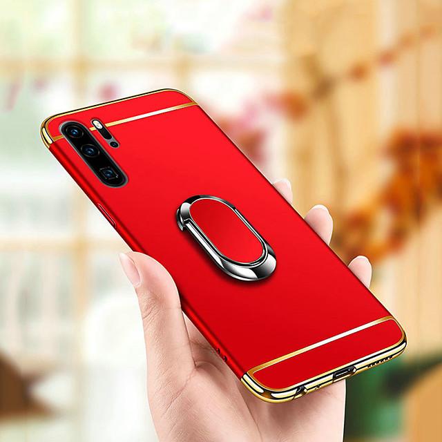 téléphone Coque Pour Huawei Coque Arriere Huawei P20 Huawei P20 Pro Huawei P20 lite Huawei P30 Huawei P30 Pro Huawei P30 Lite Avec Support Plaqué Anneau de Maintien Couleur Pleine PC
