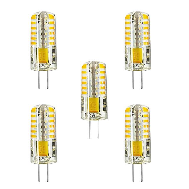 5pcs 5 W Becuri LED Bi-pin 300 lm G4 T 48 LED-uri de margele SMD 2835 Alb Cald Alb 12 V