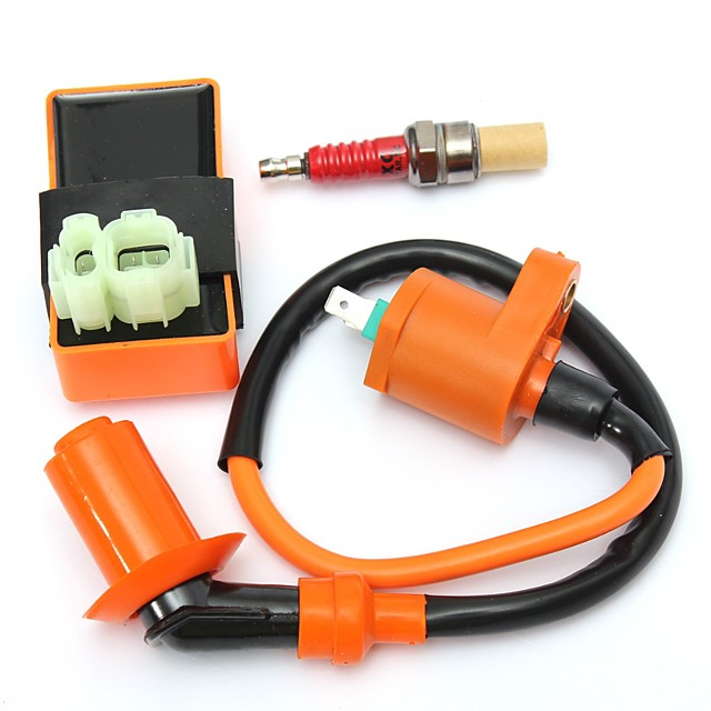 Race CDI Box 6 Pin Ignition CoilSpark Plug for GY6 50150cc Moped Scooter