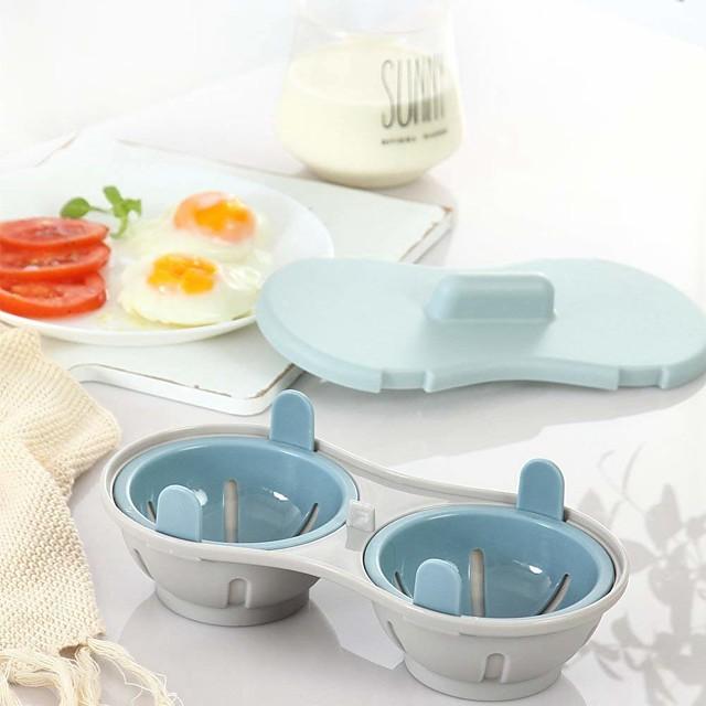 전자 레인지 계란 poacher 조리기구 더블 컵 듀얼 동굴 대용량 디자인 계란 밥솥 궁극적 인 컬렉션 계란 밀렵