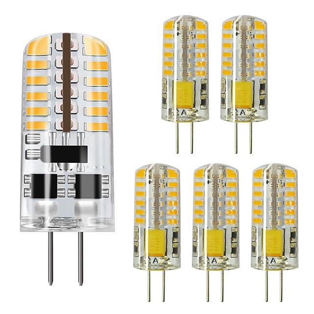 6PCS 3 W أضواء LED Bi Pin 250 lm G4 48 الخرز LED SMD 3014 أبيض دافئ أبيض كول 220 V / بنفايات