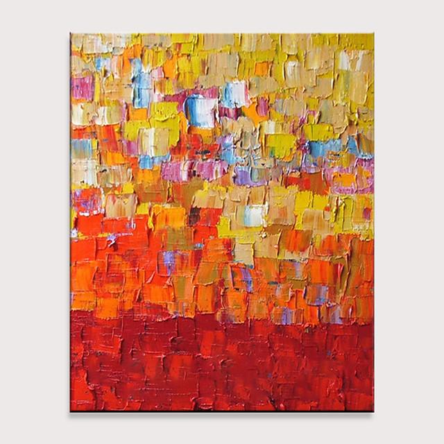 Hang-pictate pictură în ulei Pictat manual - Abstract Modern Fără a cadru interior