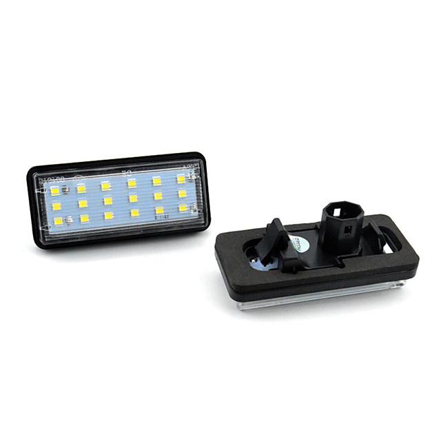 2pcs / set led kit éclairage de plaque d'immatriculation sans erreur pour lexus lx470 gx470 toyota land cruiser voiture