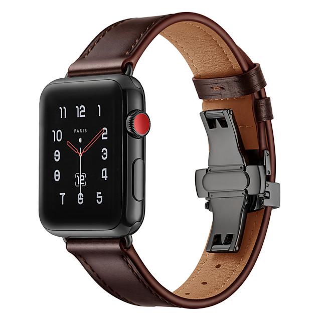 Klockarmband för Apple Watch Series 4/3/2/1 Apple Sportband Äkta Läder Handledsrem