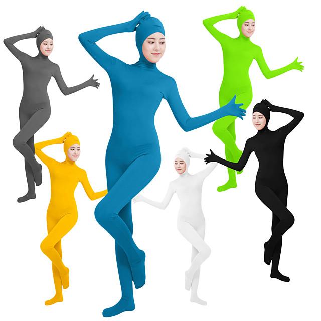 Costume Zentai Costum Costum Pisică Costum de piele Ninja Cosplay Adulți Lycra® Costume Cosplay Sex Pentru femei Culoare solidă / Leotard / Onesie / Leotard / Onesie / Înaltă Elasticitate