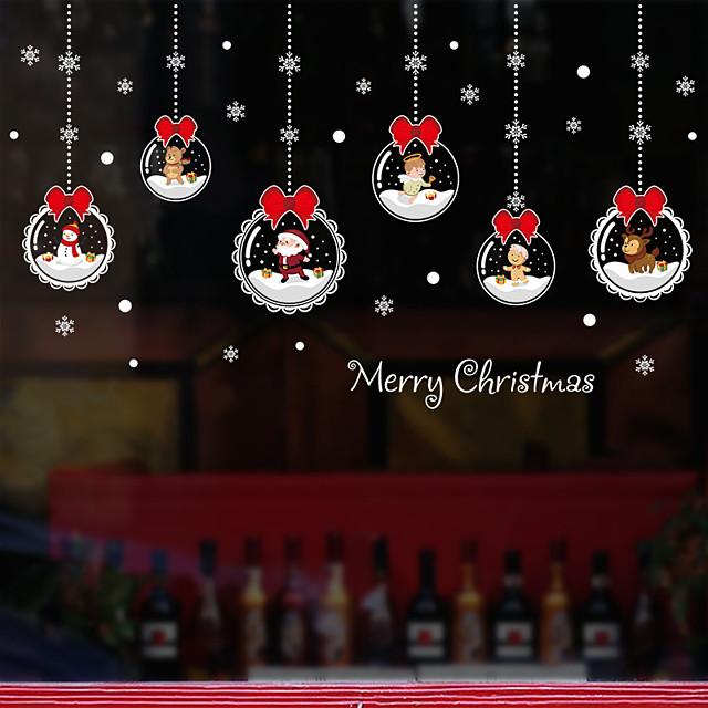 창 필름 및 스티커 장식 패턴 / 크리스마스 기하학 / 캐릭터 PVC 창문 스티커 / 이상한