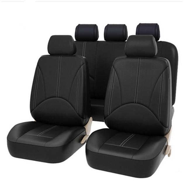 4 pezzi / set 2 coprisedili anteriori in pelle pu auto universale universale coprisedili auto cuscino di protezione sedile anteriore copertura posteriore anteriore accessori interni veicolo stile auto