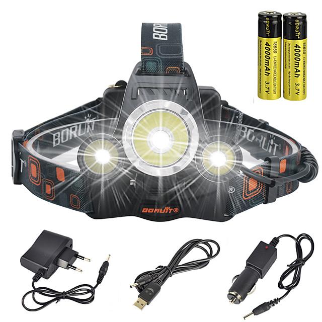 Torce frontali luci di sicurezza Fanale anteriore Super luminoso 13000 lm LED LED emettitori 4.0 Modalità di illuminazione con batterie e caricabatterie Super luminoso Angolare Adatto per veicoli