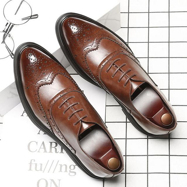 Muškarci Cipele Bullock Mikrovlakana Ljeto Oksfordice Prozračnost Crn / Braon