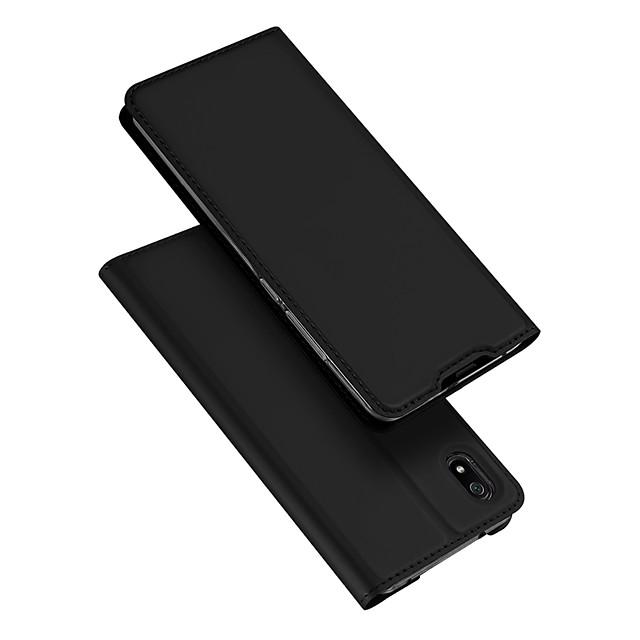 Θήκη Za Xiaomi Redmi 7A Utor za kartice / sa stalkom / Zaokret Korice Jednobojni PU koža / TPU
