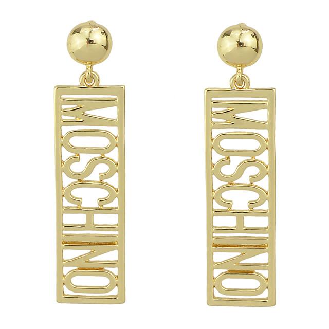 Dames Druppel oorbellen Letter Romantisch Elegant oorbellen Sieraden Goud Voor Feest Carnaval Straat Werk 1 paar