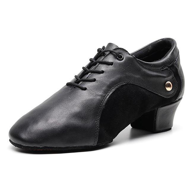 Voor heren Jazz dansschoenen Oxford Sneaker Dikke hak Zwart Veters