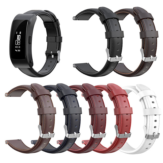 Genuine leather Replacement Watch Band Buckle Wrist Band Strap for Huawei Talkband B3