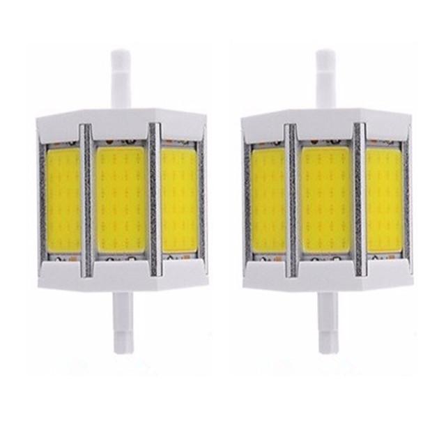 2pcs 10 W 튜브 조명 1000 lm R7S T 1 LED 비즈 COB 밝기조절가능 뉴 디자인 따뜻한 화이트 화이트 220-240 V 110-120 V