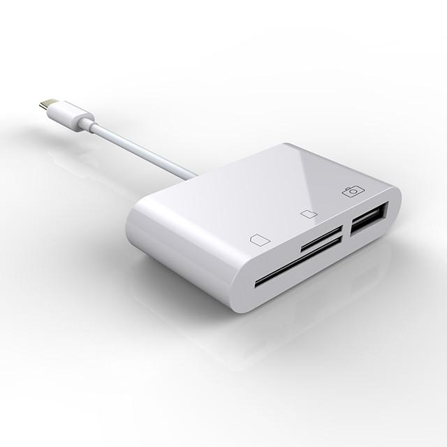 LITBest NK103-TC USB 3.1 / USB 3.1 de type C to USB 3.1 / USB 2.0 de type C / USB 3.1 de type C / Carte TF Concentrateur USB 3 Les ports Avec lecteur de carte (s) / OTG