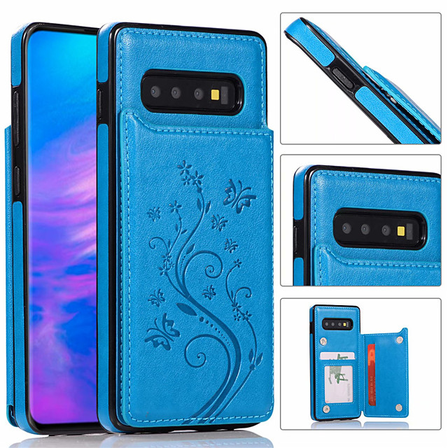 роскошный кожаный чехол для телефона для samsung galaxy s10 plus s10e s10 s9 plus s9 s8 plus s8 s7 edge s7 держатель бумажника для карт с тиснением цветочная сумка для телефона для galaxy note 10 plus