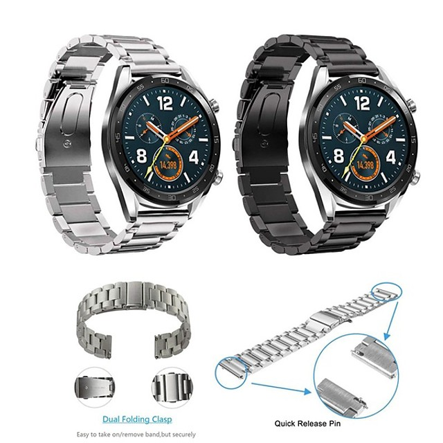 Ремешок для часов для Huawei Watch GT Huawei Классическая застежка Нержавеющая сталь Повязка на запястье