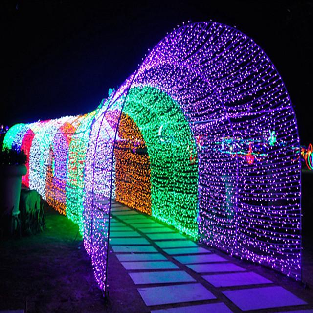 30m Cordões de Luzes 300 LEDs 3pçs Branco Quente RGB Branco Impermeável Criativo Festa 220-240 V 110-120 V