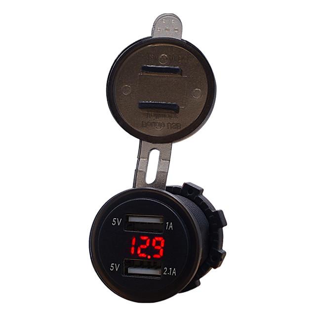Motocicletta / Auto Caricatore per auto 2 porte USB per 5 V