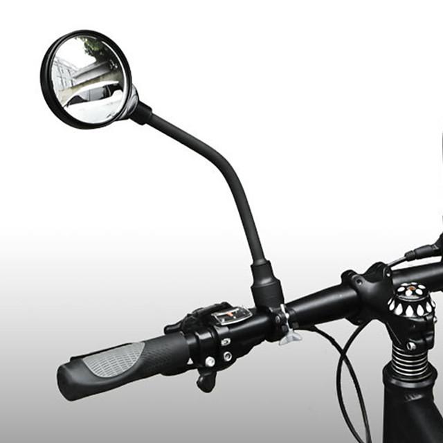 Rearview Mirror Handlebar Bike Mirror สายปรับได้ Portable กันกระแทก จักรยาน รถจักรยานยนต์ จักรยาน อะลูมิเนียม พีวีซี สีดำ จักรยานใช้บนถนน จักรยานปีนเขา คงเกียร์จักรยาน