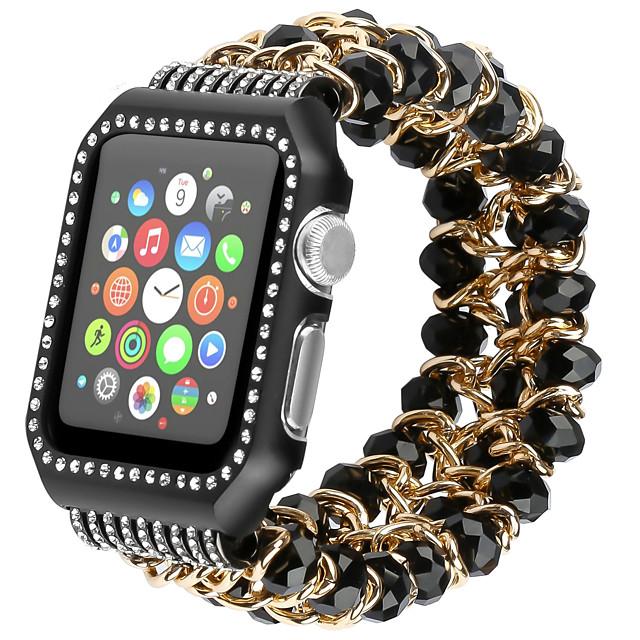 Ремешок для часов для Серия Apple Watch 5/4/3/2/1 Apple Спортивный ремешок / Дизайн украшения Нержавеющая сталь / силиконовый Повязка на запястье