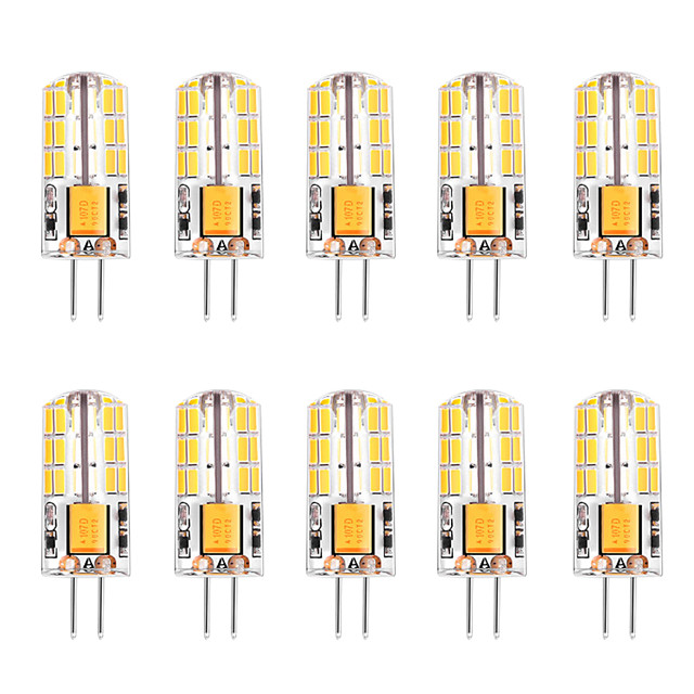 10pcs 3 W Becuri LED Corn Becuri LED Bi-pin 300 lm G4 T 48 LED-uri de margele SMD 4014 Alb Cald Alb 12 V
