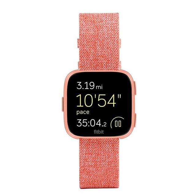 Horlogeband voor Fitbit Versa Fitbit Sportband Stof Polsband