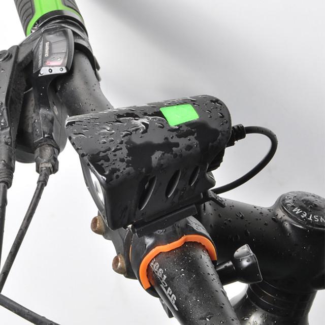 LED Luci bici Luce frontale per bici LED Bicicletta Ciclismo Rilascio rapido Litio-polimero Batteria ricaricabile Li-ion 1000 lm Batteria ricaricabile Bianco Ciclismo / Rotazione a 360° / IPX 6