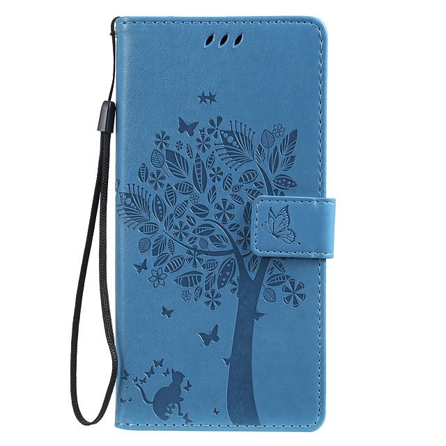 Кейс для Назначение SSamsung Galaxy S9 / S9 Plus / S8 Plus Кошелек / Бумажник для карт / со стендом Чехол Однотонный / дерево Кожа PU