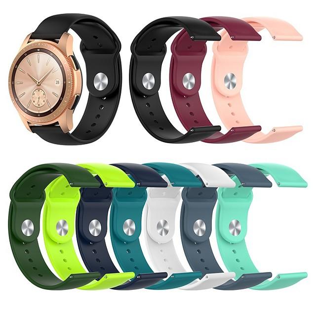 Ремешок для часов для Galaxy Watch 3 41мм / Часы Galaxy active 3 Samsung Galaxy Спортивный ремешок / Классическая застежка силиконовый Повязка на запястье