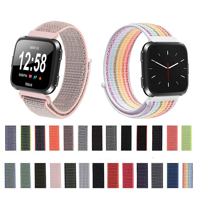correa de pulsera tejida de nylon con correa de reloj para fitbit versa / fitbit versa lite pulsera pulsera accesorios reemplazables