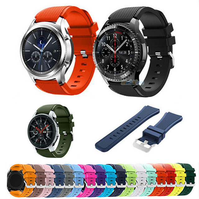 22мм силиконовый спортивный ремешок для часов Samsung Galaxy 46mm gear s3 frontier / classic
