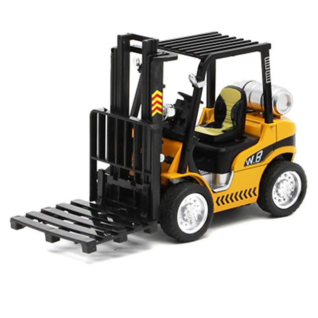 01h32 Métallique Ensemble de camion de construction Chariot Elévateur Véhicule de construction de camion jouet Petites Voiture Véhicules à Friction Arrière Chariot Elévateur Enfant Jouets de voiture