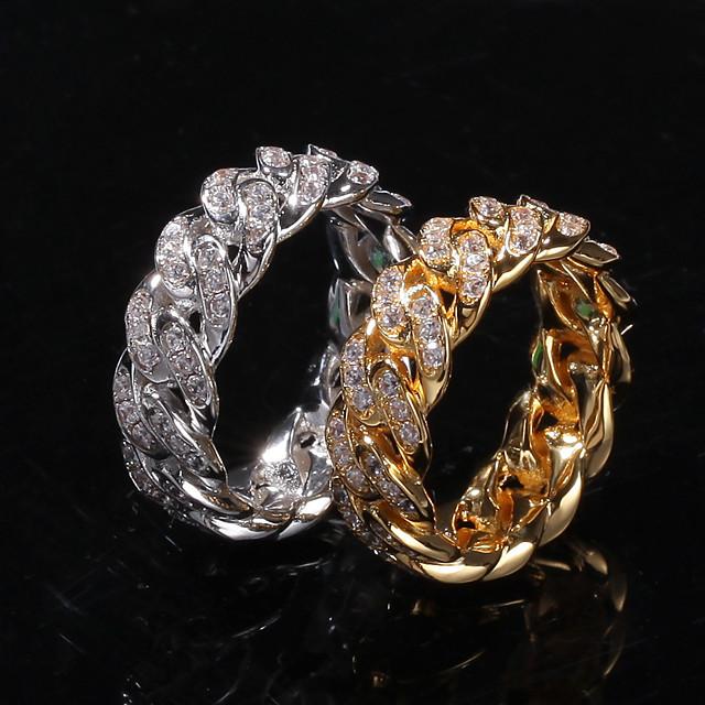 วงแหวน Cubic Zirconia สีทอง สีเงิน ทองแดง โลหะผสม กีต้าร์ ฝัน Stylish ความหรูหรา อินเทรนด์ 1pc 8 9 10 11 / สำหรับผู้หญิง / สำหรับผู้ชาย