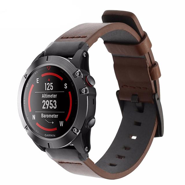 Leather Watch Band Wrist Strap For Garmin Fenix 6 Pro / Fenix 5 Plus / Approach S60 / Forerunner 935 / Quatix 5 Quick Release Bracelet Wristband