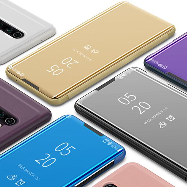 전화 케이스 제품 OnePlus 전체 바디 케이스 플립 케이스 원 플러스 7 OnePlus 6 Oneplus 7 Pro Oneplus 6T 스탠드 도금 거울 솔리드 PU 가죽 PC