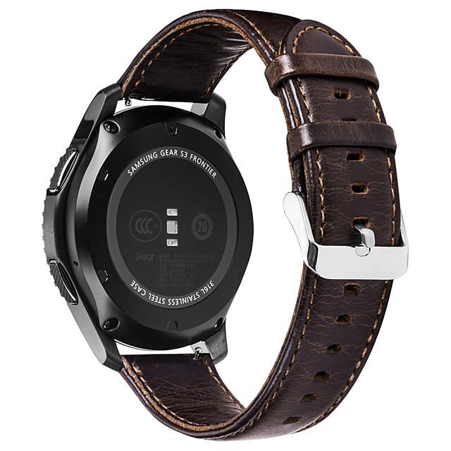 smartwatch band for garmin vivomove hr sport / vivoactive 3 skinn loop ekte skinn 20mm håndleddsstropp