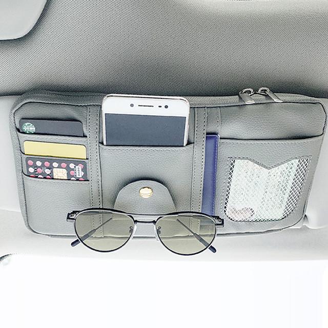 organisateurs de voiture cd cas / titulaire de la carte / lunettes clips en cuir PU / nylon / voiture pare-soleil sac de rangement
