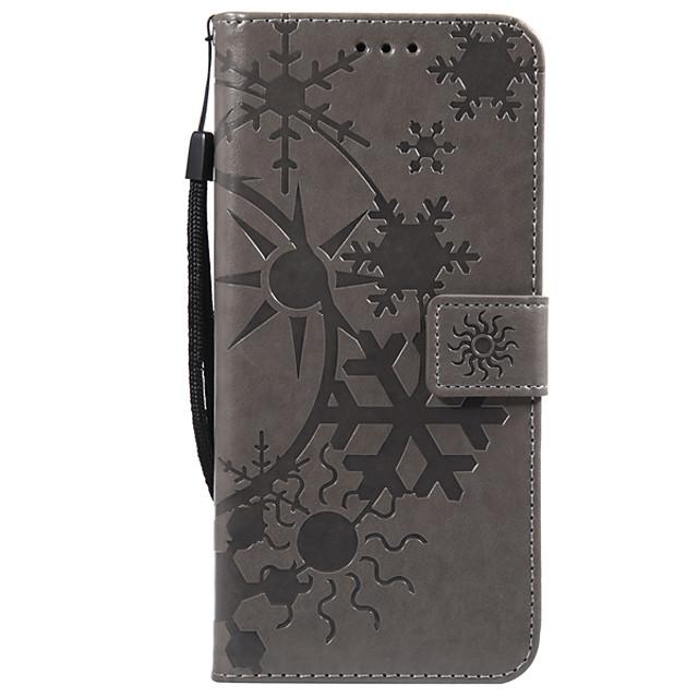 Кейс для Назначение SSamsung Galaxy S9 / S9 Plus / S8 Plus Бумажник для карт Чехол Геометрический рисунок Кожа PU / ПК