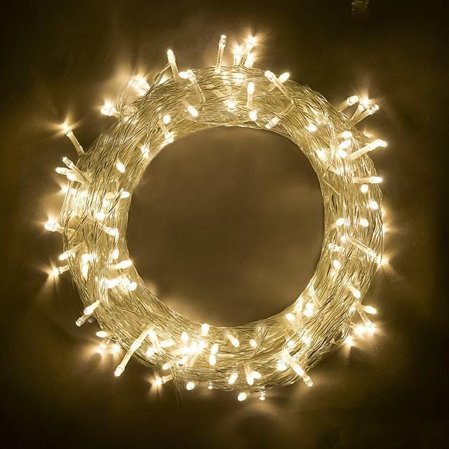 BRELONG® 10m Fâșii de Iluminat 100 LED-uri SMD 0603 Alb Cald / RGB / Alb Petrecere / Decorativ / De Legat 220-240 V / 110-120 V 1 buc / IP65