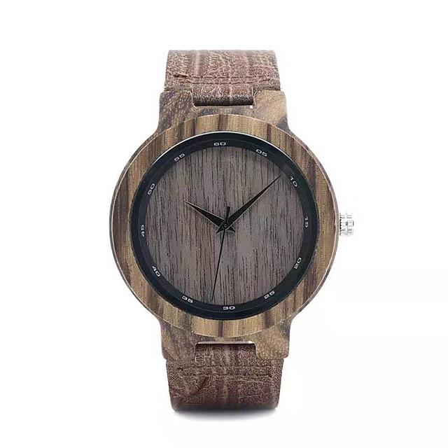 Муж. Нарядные часы Японский кварц Стильные Мода Повседневные часы Аналоговый Темно-красный / Два года / Натуральная кожа / Натуральная кожа / Два года