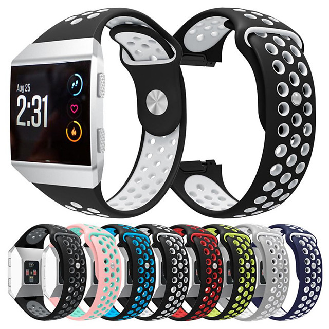 Cinturino intelligente per Fitbit 1 pcs Cinturino sportivo Silicone Sostituzione Custodia con cinturino a strappo per Fitbit ionico